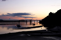 Sun Set over Barmouth Bridge Gwynedd North Wales
